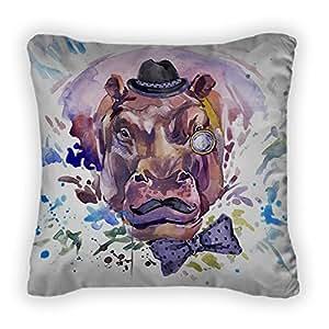 Gear New Hippopotamus T-Shirt Graphics Hippopotam Throw Pillow,