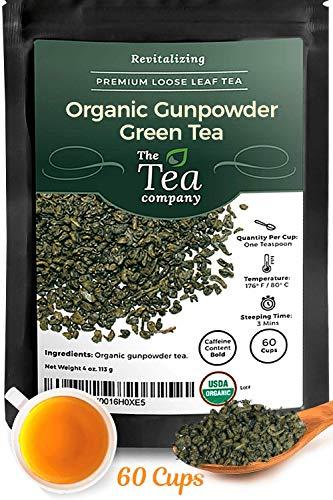 Tea Company Green (Organic Gunpowder Green Tea Loose Leaf by The Tea Company 4oz)