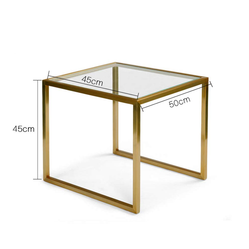 Amazon.com: ZHIRONG Modern Living Room Square Tempered Glass ...