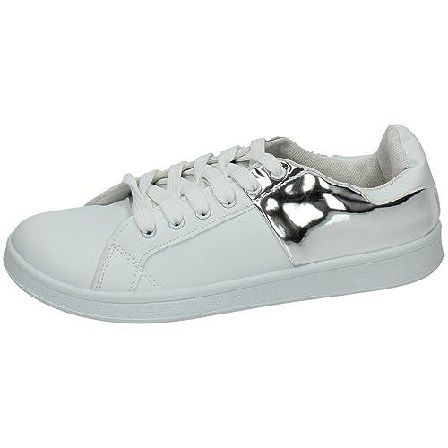 DEMAX BE-16144 Zapatillas Blancas Mujer Deportivos: Amazon.es: Zapatos y complementos