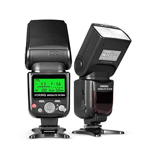VOKING VK750III Remote TTL Camera Flash Speedlite with LCD Display for Nikon D3400 D3300 D3200 D5600 D850 D750 D7200 D5300 D5500 D500 D7100 D3100 and Other DSLR Cameras