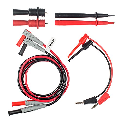 Vastar 8-Pieces Electronic Professional Test Lead Kit / Multimeter Accessory Kit