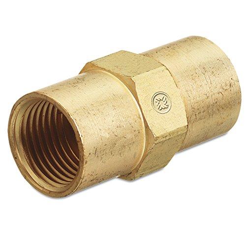 Western Enterprises Aw 430 Inert Arc Hose Couplers  Brass  B Size  Rh To Rh  Female Female Connection  0 5 Length  B Size