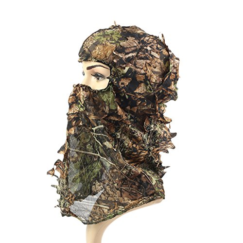 The Originall 3D Leaf Realtree Camo Camouflage Lightweight Full Cover Face Mask for Jungle Hunting,Shooting, Airsoft, Wildlife Photography or Halloween