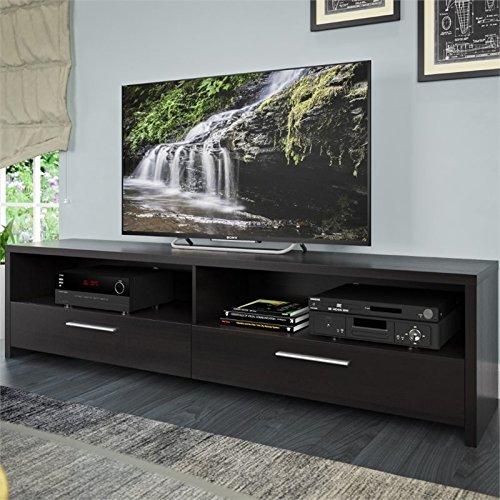 CorLiving TFB-307-B Fernbrook TV Stand in Black Faux Wood Gr