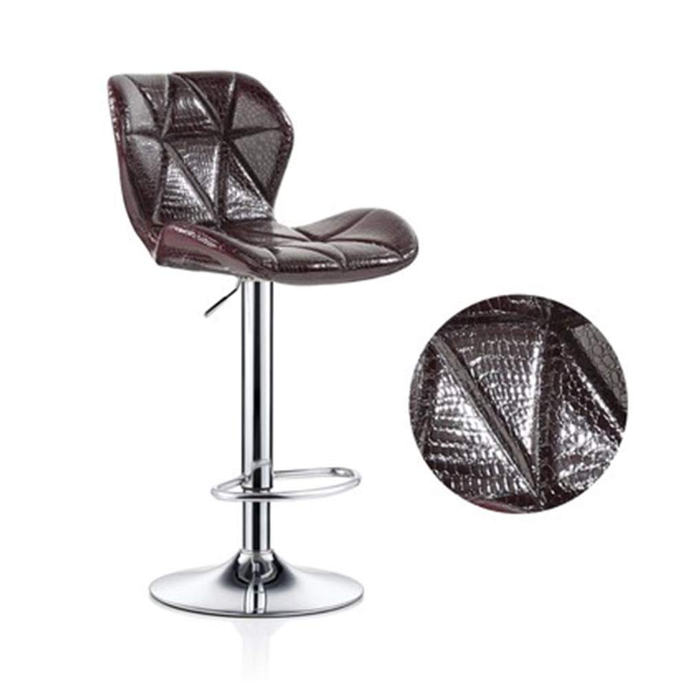 J Large Beauty Stool Bar Chair High Foot Leisure Swivel Seat Can Be Lifted Front Desk Reception Non-Slip Metal Nail Makeup Stool (color   I, Size   S)