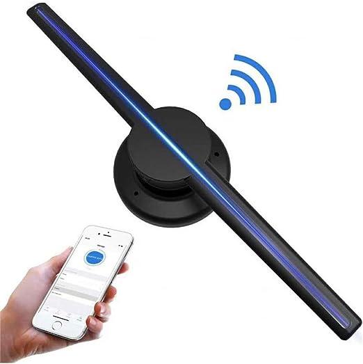 Projector Holograma 3D HD Wi-Fi Ventilador con Holograma 3D LED ...