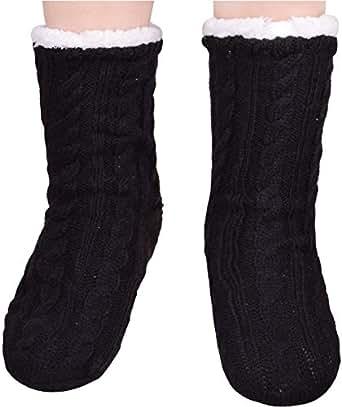 Womens House Slippers Non Skid Knitted Slipper Socks