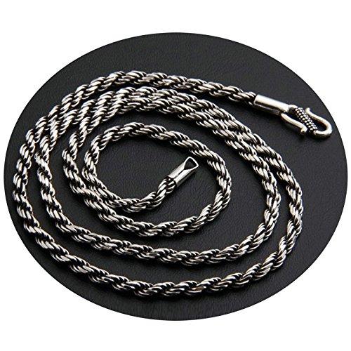 b286b397f2fb Epinki 925 plata collar de hombre Cadena Señor torcido cadena cadenas de la  amistad (solo