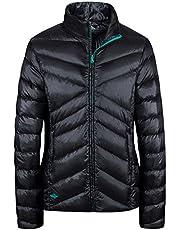 Wantdo Women's Sports Down Wear Stand Collar Lightweight Packable Short Down Jacket