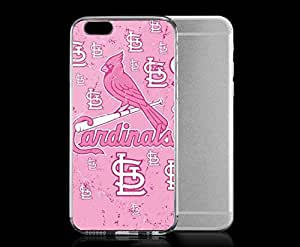 Light weight with strong PC plastic case for Iphone 6 Sports & Collegiate MLB St. Louis Cardinals St. Louis Cardinals Pink Primary Logo Blast