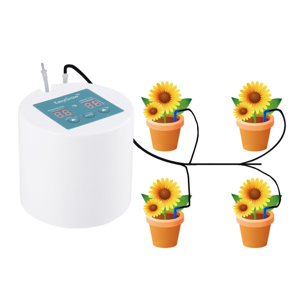 Plant Self-Watering System Automatic Waterer Drip Irrigation with 10m Tube Kits for Potted Plants