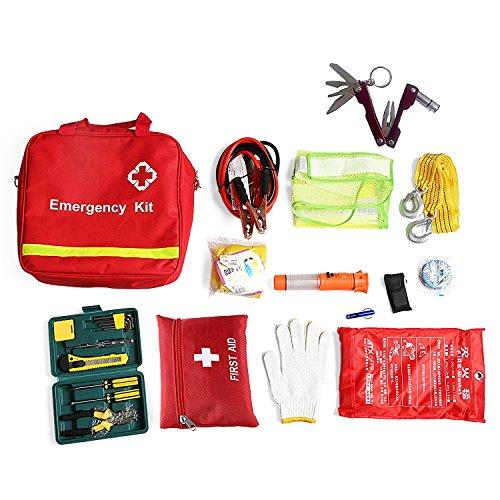 Erste Hilfe Set für Kfz (inkl. Verbandskasten, Warnweste, Sanitätstasche, Werkzeugkasten, Feuerlöschdecke etc.)