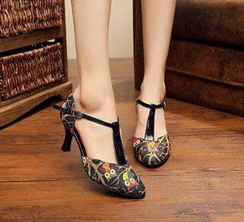 Minitoo - Zapatillas de danza para mujer plateado plata HtLT7azKd