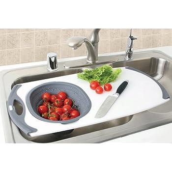 Amazon Com Over The Sink Strainer Board W Silicone