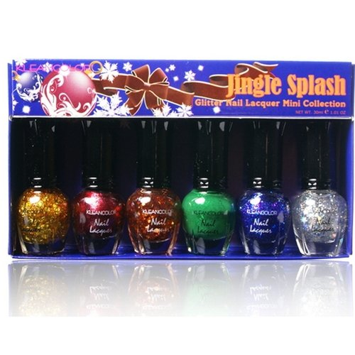 Kleancolor Glitter Nail Collection Mini-Jingle Laque Splash