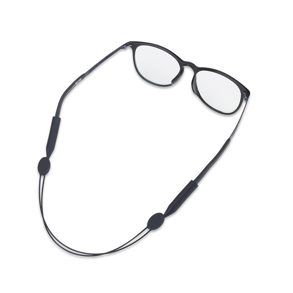 Tbest Cinturino per Occhiali, Cinturino Regolabile per Occhiali da Vista Antiscivolo Occhiali Sportivi Cinturino per Occhiali da Sole per Uomo Nero