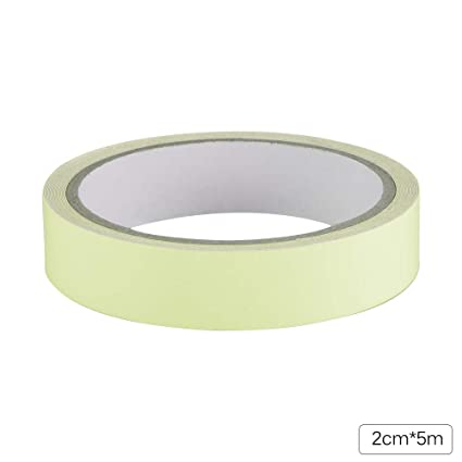 DDSKY Glow in The Dark Tape 1cm x 5m Removable Luminous Tape Fluorescent Glowing Dark Striking Warning Tape for Safety Markers Stairs Exit Sign Reflective Glow Tape Orange