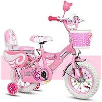 Geekbot Vélo Enfant Fille 14 Pouces - Enfant DE 4-9 Ans - Pneu Gonflable -Siège Comfortable - Petit pagné - Vélo Princesse Pneu Blanc