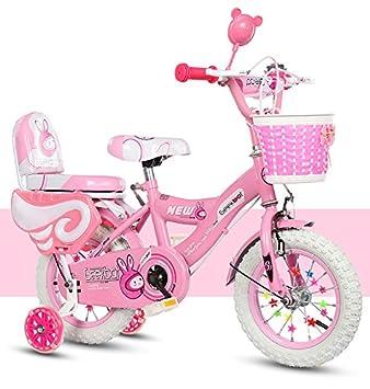 Geekbot Vélo Enfant Fille 14 Pouces - Velo Enfant de 4-9 Ans - Pneu ... c81e949384d2