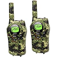Kids Walkie Talkies, UOKOO Walkie Talkies for Kids 22 Channel FRS/GMRS Two Way Radio Up to 3KM UHF Handheld Walkie Talkies, Gifts for 7-year Old Boys and Girls (T668-Armygreen)