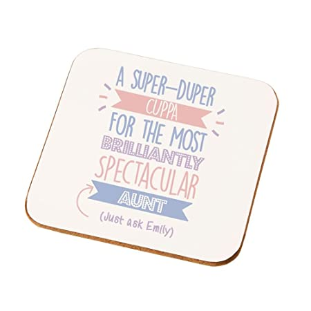 Best Aunt Gift Idea Personalised Coaster Auntie Presents Birthday Gifts