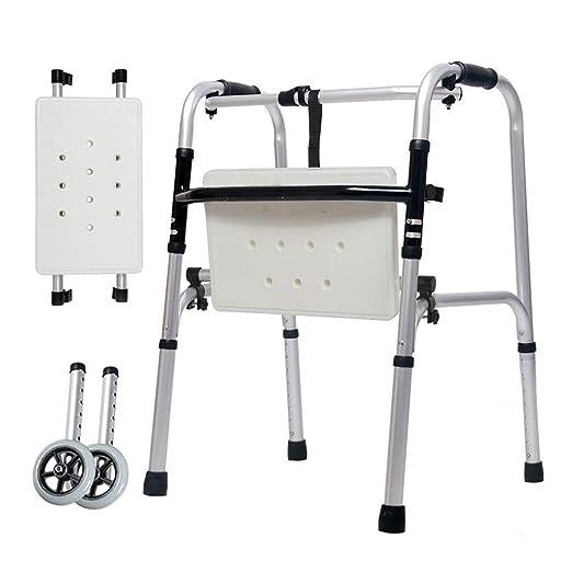 DNSJB Muletas Andador Ancianos Inhabilitados Aluminio Doble ...