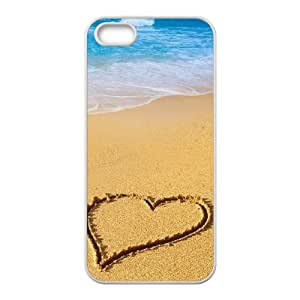 Love Sandy Beach Wave Case For iPhone 5,5S White