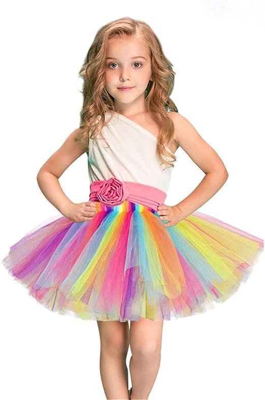 Asdflina - Disfraz de tutú de Princesa sin Mangas de Verano para ...
