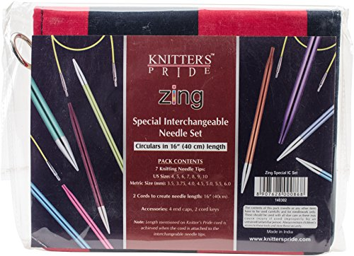 KP140302 Zing Deluxe Special Interchangeable Needle Set- by Knitter's Pride