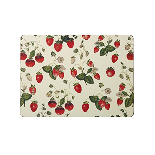 Ulster Weavers RHS Strawberry Placemats, Large, 4-Pack by Ulster Weavers