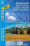 UK50-51 Karwendel: Murnau a.Staffelsee, Lenggries, Mittenwald, Kochelsee und Walchensee (UK50 Umgebungskarte 1:50000 Bayern Topographische Karte Freizeitkarte Wanderkarte)