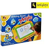 Zest 4 Toyz Magic Drawing Board 2 In 1 Sketch Pad Writing Painting Craft Art Child (Yellow)