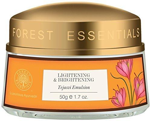 Forest Essentials Lightening and Brightening Tejasvi Emulsion, 50g - - Shipping by FEDEX/DHL by Forest - Lightening Emulsion