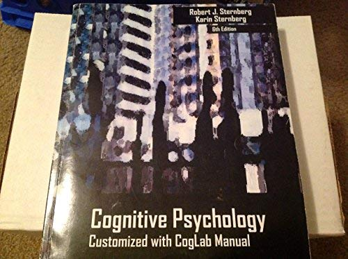 Cognitive Psychology- Customized with Coglab Manual