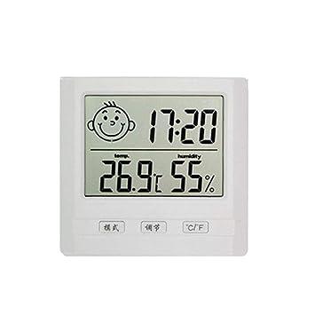 Kati Way Thermomètre Intérieur Bébé Chambre, Thermo Hygromètre Affiche  Electronique Interieur Pour L