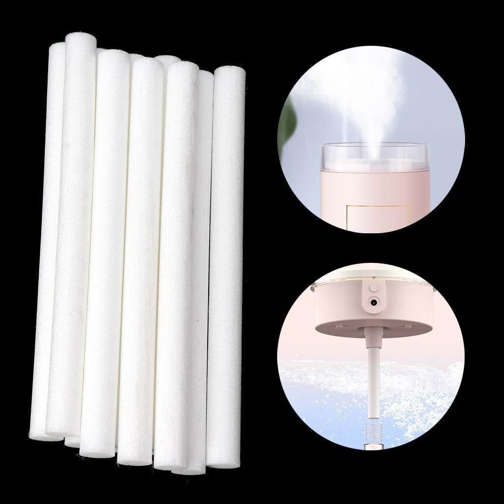 Juego de 10 filtros humidificadores de algod/ón para difusor de aroma de aire SHUXIN 10 mm x 125 mm