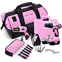 Pink Power Cordless Electric Screwdriver At A Glance