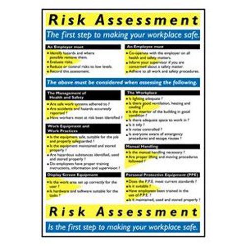 Bryson WC121'Risk Assessment' Wallchart, 600 mm Width, 420 mm Length
