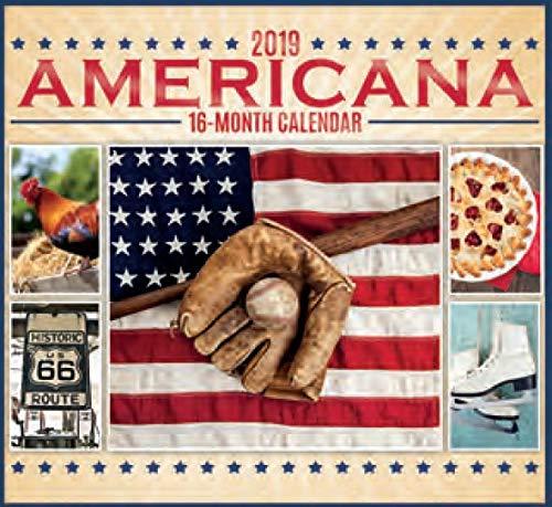 16 Month Wall Calendar 2019 Americana. Each Month Displays Full-Color Photograph. September 2018 - December 2019 Planning Calendar