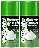 Gillette Foamy Shaving Cream, Lemon-Lime - 11 oz - 2 pk