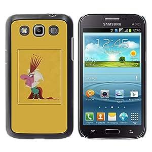 GOODTHINGS Funda Imagen Diseño Carcasa Tapa Trasera Negro Cover Skin Case para Samsung Galaxy Win I8550 I8552 Grand Quattro - rey caricatura parodia hombre corona monarquía