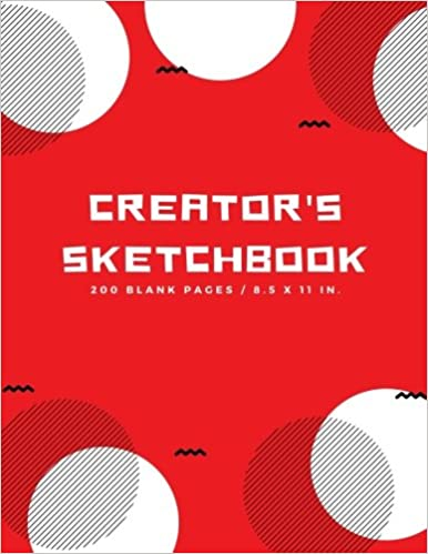 creators sketchbook blank drawing paper for drawing sketching doodling art extra large 200 pages arts and crafts volume 2