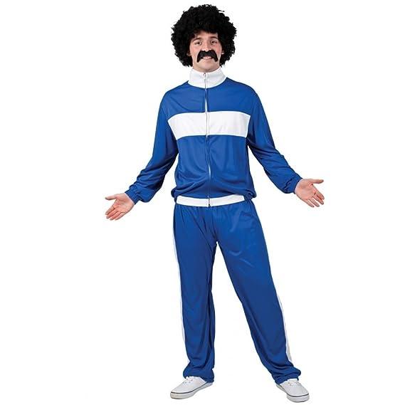 Wicked Costumes Azul y blanco de chándal Trackie divertido atleta ...