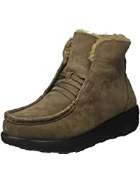 FitFlop Women's Loaff Lace-Up Suede And Shearling Ankle Boots