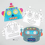 Robot Colour-In Craft Masks (Pack Of 6) For Kids To Make & Decorate