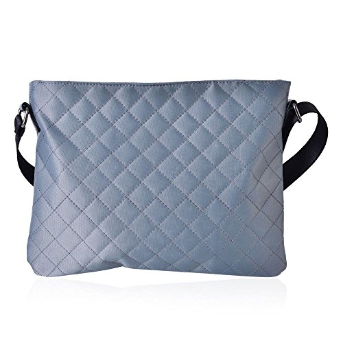 Pattern Diamond Bag Grey 28x21 Cm Adjustable Crossbody Strap TJC Shoulder 5 R5ZvqwFwd