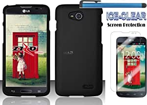 LG OPTIMUS L90 Accessories 3-items Bundle - Hard Case Snap-on Cover(Matte Red)+ICE-CLEAR(TM) Screen Protector Shield(Ultra Clear)+Touch Screen Stylus