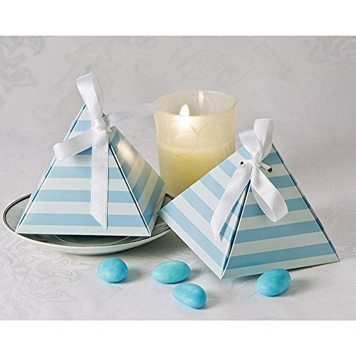 Something Blue Pyramid Favor Box (Pack of 96)