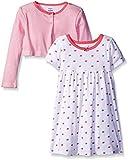 Gerber Little Girls' Toddler Two-Piece Cardigan and Dress Set, Watermelon, 3T